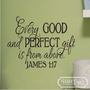 James 1v17 Vinyl Wall Decal version 2