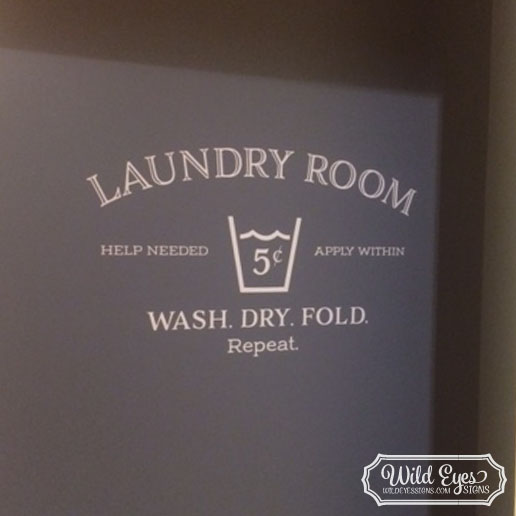 Laundry Room Vinyl Wall Decal