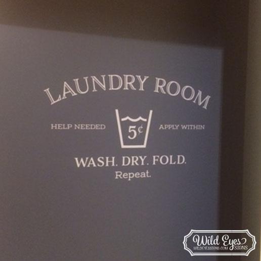 Laundry Room Vinyl Wall Decal