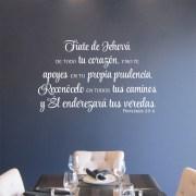 Proverbios 3v5-6 Vinyl Wall Decal 4 Spanish