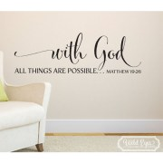 Matthew 19v26 Vinyl Wall Decal 3
