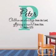 Psalm 127v3 Vinyl Wall Decal 3