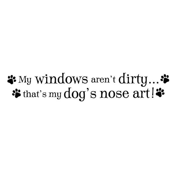 Dog's Nose Art Vinyl Wall Decal
