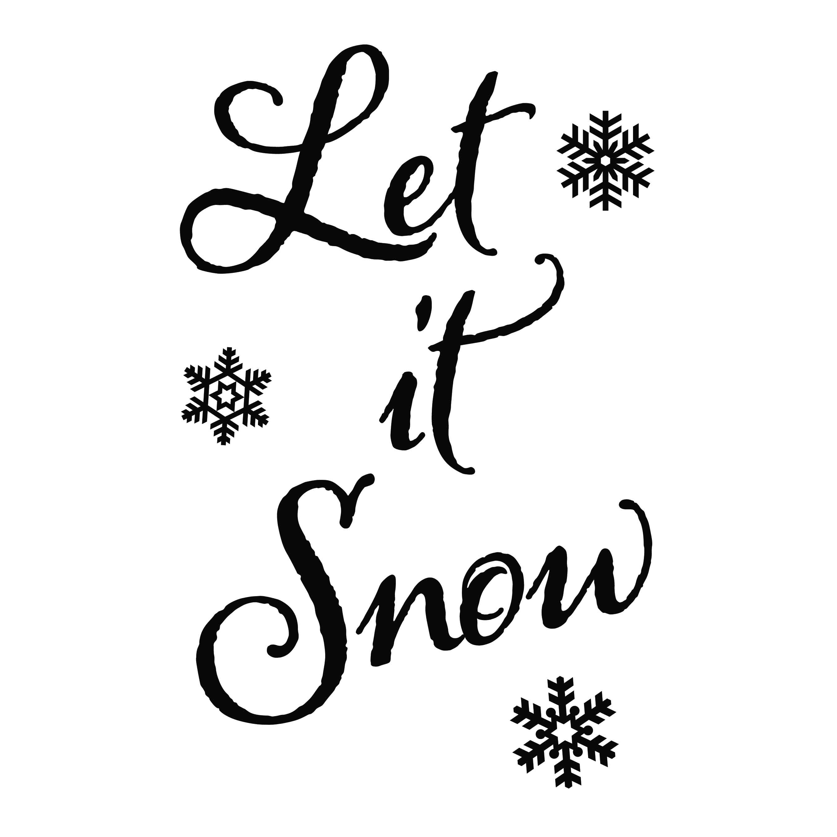 Let It Snow Vinyl Wall Decal