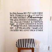 In this House we put God first Vinyl Wall Decal