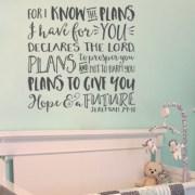 Jeremiah 29:11 Vinyl Wall Decal 3