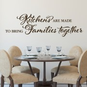 HH2135 Kitchens are made to bring families together Vinyl Wall Decal