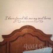 Song of Solomon 3:4 Vinyl Wall Decal