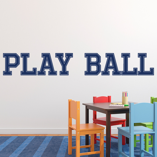 Play Ball Vinyl Wall Decal