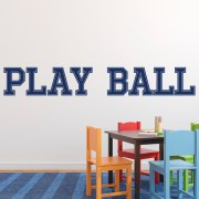 Play Ball Vinyl Wall Decal