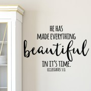 Ecclesiastes 3:11 Vinyl Wall Decal