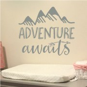 Adventure Awaits Vinyl Wall Decal