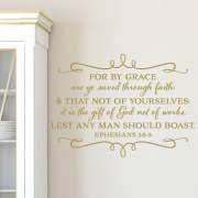 Ephesians 2:8-9 Vinyl Wall Decal