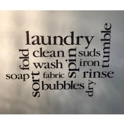 Laundry Room Collage Vinyl Wall Decal