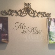 Mr and Mrs Vinyl Wall Decal
