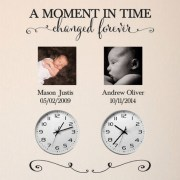 A Moment in time changed forever Vinyl Wall Decal