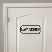 Lavanderie Vinyl Wall Decal