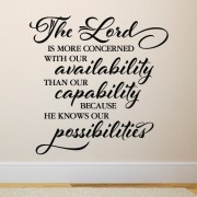 The Lord is more concerned Vinyl Wall Decal