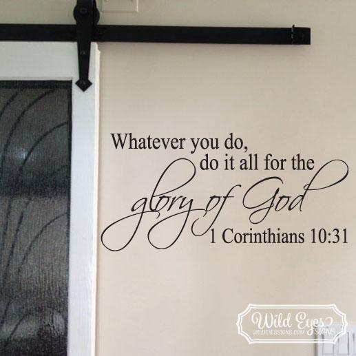 1 Corinthians 10:31 Vinyl Wall Decal 1