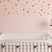 Silver White Stars Vinyl Wall Decals