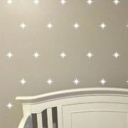 Stars Compass Rose Vinyl Wall Decal