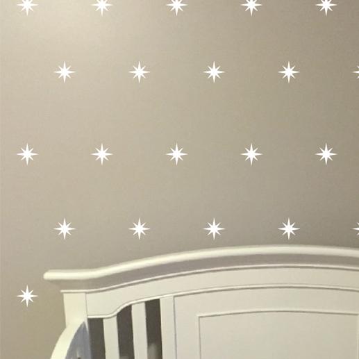 Stars Compass Rose Vinyl Wall Decal