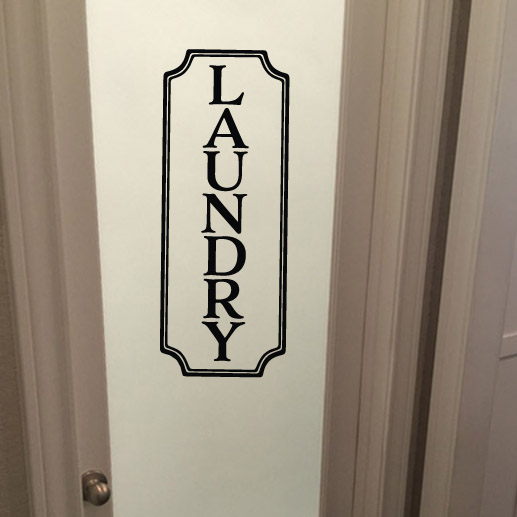 Laundry Sign Vinyl Wall Decal