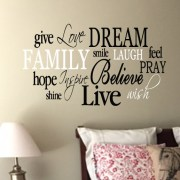 Family Word Collage Vinyl Wall Decal 2