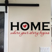 HOME where your story begins Vinyl Wall Decal