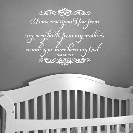 Psalm 22:10 Vinyl Wall Decal 1