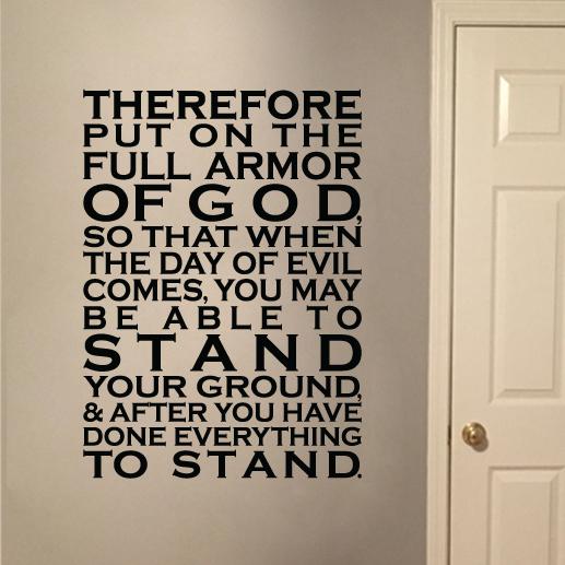 Ephesians 6:13 Vinyl Wall Decal 1