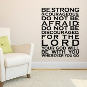 Joshua 1v9 Vinyl Wall Decal 30