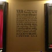 1 Peter 3:3-4 Vinyl Wall Decal 2