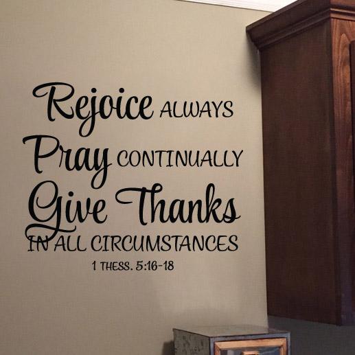 1 Thessalonians 5:16-18 Vinyl Wall Decal 1