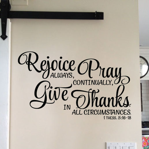 1 Thessalonians 5:16-18 Vinyl Wall Decal 3