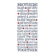Brothers Together Vinyl Wall Decal
