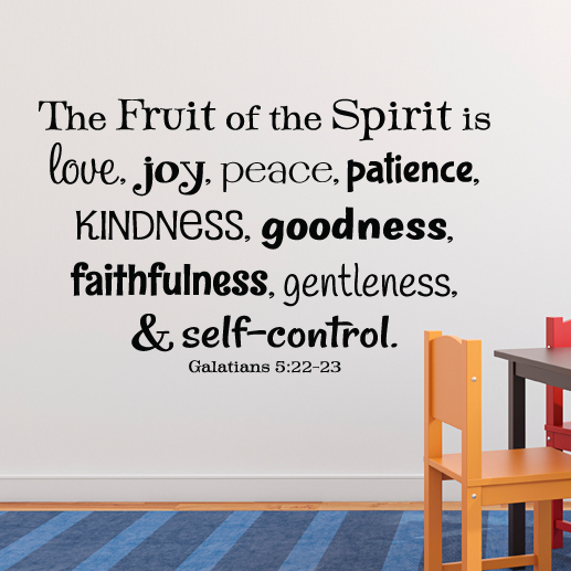 Galatians 5:22 Vinyl Wall Decal 5
