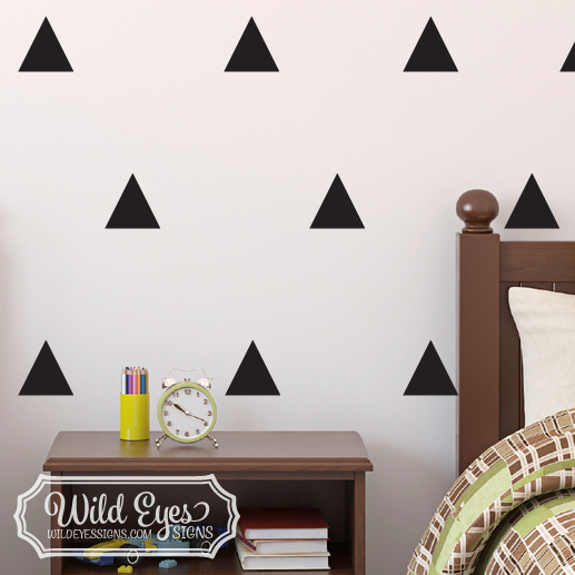 Triangle Vinyl Wall Decals