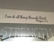 Philippians 4:13 Vinyl Wall Decal 1