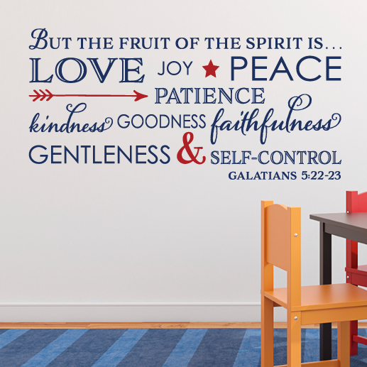 Galatians 5:22 Vinyl Wall Decal 7