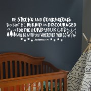Joshua 1:9 Vinyl Wall Decal 37