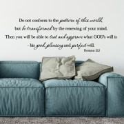 Romans 12:2 Vinyl Wall Decal 1