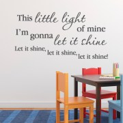 This little light of mine, I'm gonna let it shine Vinyl Wall Decal