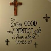 James 1:17 Vinyl Wall Decal 2