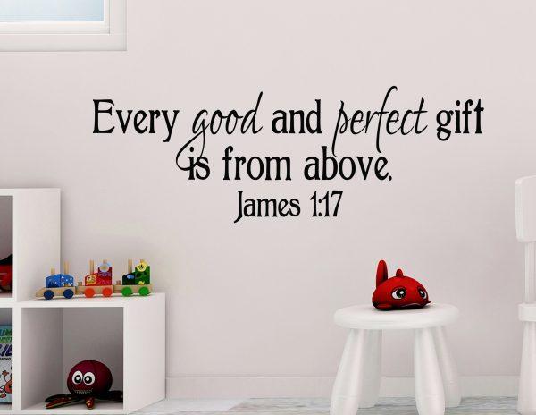 James 1:17 Vinyl Wall Decal 3