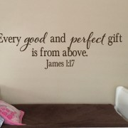 James 1:17 Vinyl Wall Decal 20