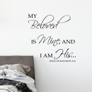 Song of Solomon 2:16 Vinyl Wall Decal 3