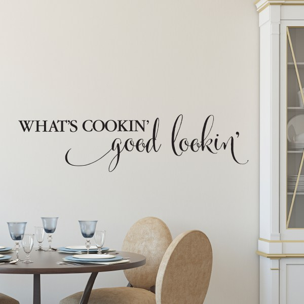 What's Cookin' Good Lookin' Vinyl Wall Decal