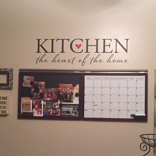Kitchen The Heart Of Home Vinyl Wall Decal Lettering