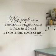 Isaiah 32:18 Vinyl Wall Decal 1